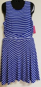 Xhilaration Womens Blue & White Dress Size Large